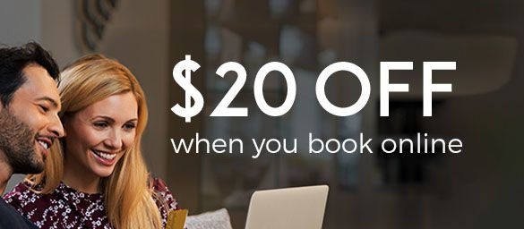 $20 OFF when you book online